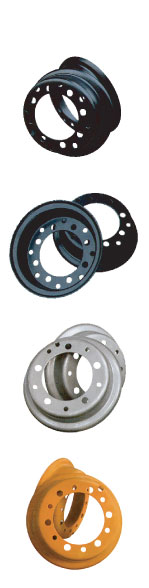 wheels for engineering vehicle and forklift